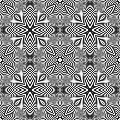 Adesivo Teste padrão sem emenda listrado abstrato do deco da arte ótica.