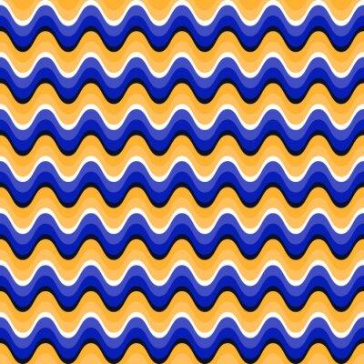Adesivo Teste padrão sem emenda ondulado com ilusão ótica do movimento. Swatch está anexado