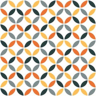 Adesivo Teste padrão sem emenda retro geométrico alaranjado