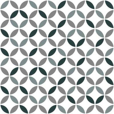Adesivo Teste padrão sem emenda retro geométrico cinzento