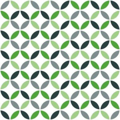 Adesivo Teste padrão sem emenda retro geométrico verde