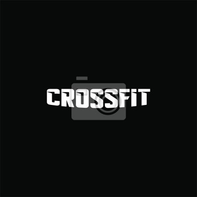 Adesivo Text crossfit logotype template isolated on black background