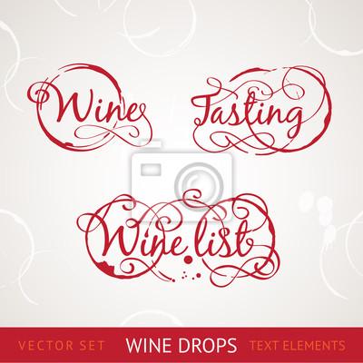 Adesivo Texto vinho tinto