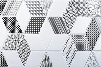 Adesivo Textura do azulejo clássico, padrão abstrato