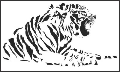 Adesivo tigre está sentando