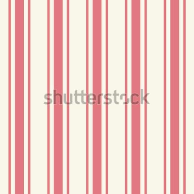Adesivo Tileable planície fina luz cor rosa modelo de riscas em estilo artístico clássico carmesim simples impressão em afeiçoado bege. Repetição de tiras modernas e ousadas. Close-up vista de detalhe com esp
