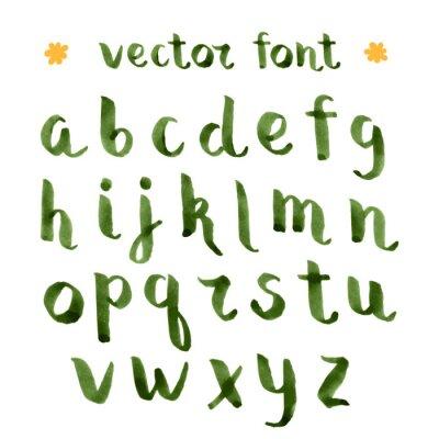 Adesivo Tinta Handmade alfabeto verde.