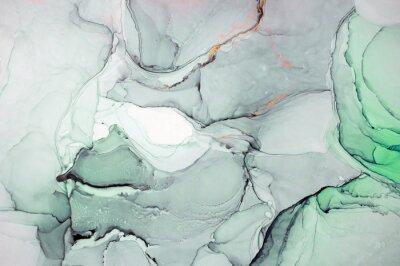Adesivo Tinta, tinta, abstrata. Closeup da pintura. Fundo colorido pintura abstrata. Tinta a óleo altamente texturizada. Detalhes de alta qualidade. Pintura abstrata moderna da tinta do álcool, arte contempor