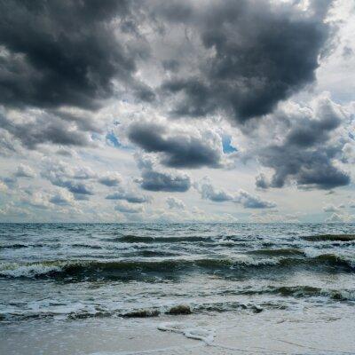 Adesivo Tormentoso, céu, escuro, mar