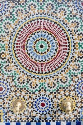 Adesivo Torneira de água estilo marroquino com mosaico detalhado