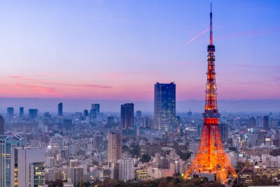Adesivo Torre de Tóquio, Tokyo, Japão