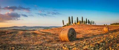 Adesivo Toscana, paisagem, fazenda, casa, pôr do sol, val, orcia, Itália