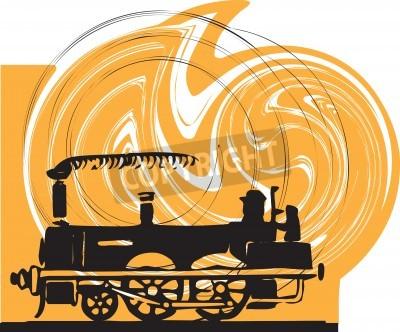 Adesivo Train. Vetor