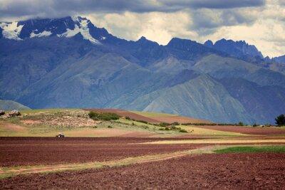 Adesivo Trator no campo, Cuzco, Peru