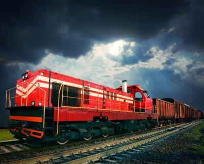 Adesivo trem de carga
