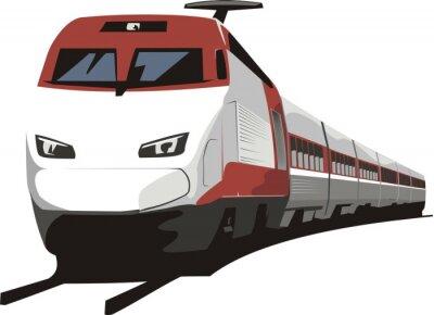 Adesivo trem de passageiros