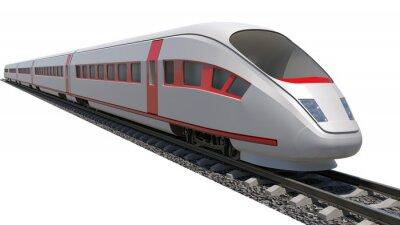 Adesivo Trem em fundo branco