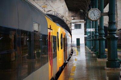 Adesivo Trem na estação