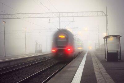 Adesivo Trem, saída, estação