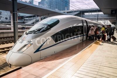 Adesivo Trens de alta velocidade em Guangzhou