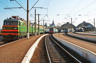 Adesivo Trens na estação de comboios