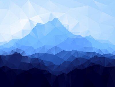 Adesivo Triângulo fundo geométrico com montanha azul