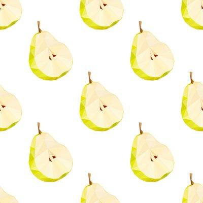 Adesivo Triângulo polygonal pêra ilustração vetorial. Fruta suculenta.