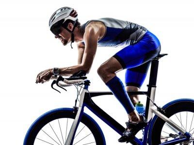 Adesivo triathlon iron man athlete cyclist bicycling