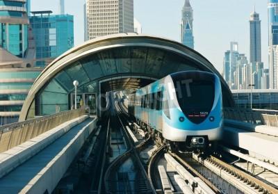 Adesivo trilhos do metrô em Emirados Árabes Unidos