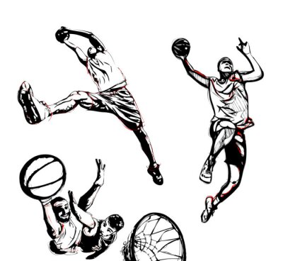 Adesivo trio de basquete