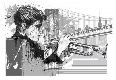 Adesivo Trompete em Nova York (Brooklyn)