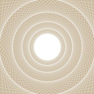 Adesivo Tubo de luz da web, uma visão centrada a partir do interior de um túnel web, com um núcleo branco aberto