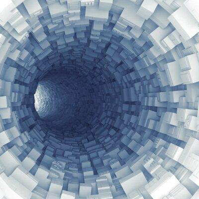 Adesivo Túnel azul com segmentos tecnológicos extrudidos