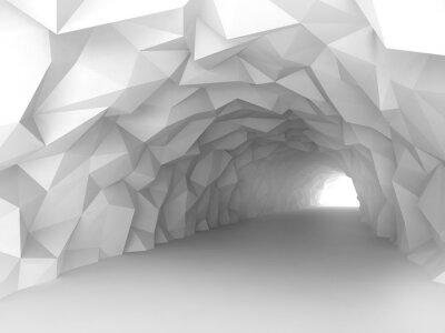 Adesivo Túnel interior com relevo caótico poligonal de paredes