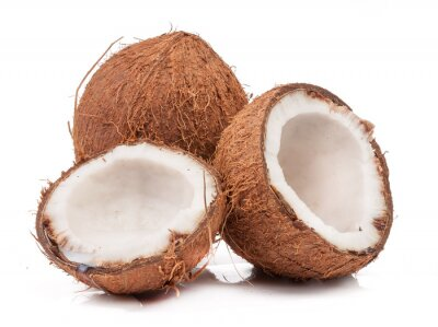 Adesivo Two coconut one of which split isolated