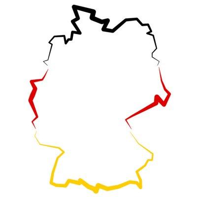 Adesivo Tyskland - mapa