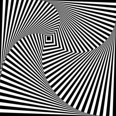 Adesivo Uma ilusão óptica preto e branco
