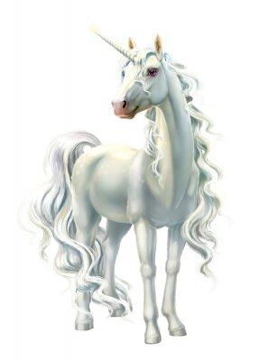 Adesivo unicorn, full-length isolated on white