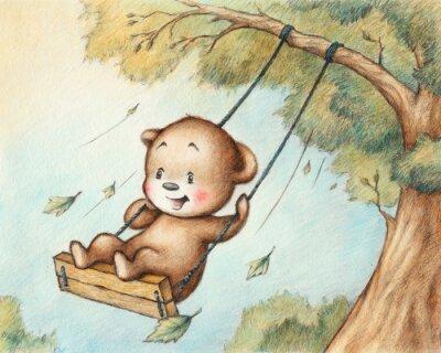 Adesivo Urso de peluche balançando