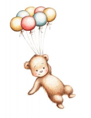 Adesivo Urso de peluche com balões