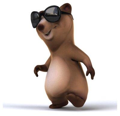 Adesivo Urso divertido