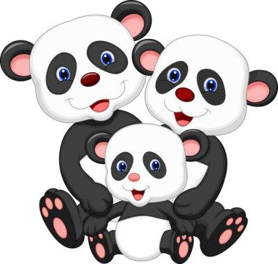 Adesivo Urso Panda desenhos animados da família
