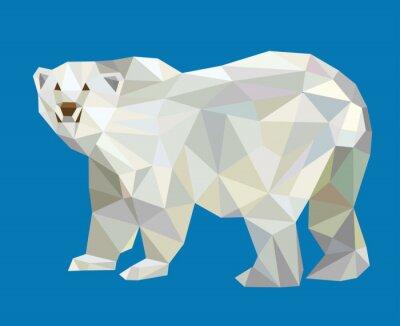 Adesivo Urso polar low poly vector
