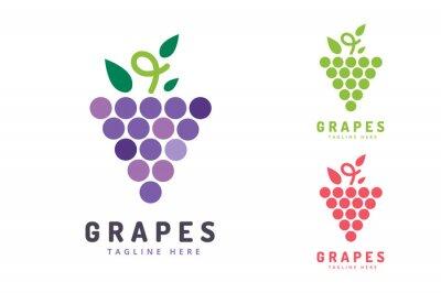 Adesivo Uvas isoladas ícone do logotipo