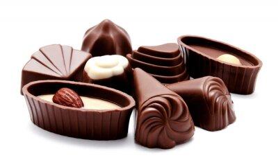 Adesivo Variedade de doces de chocolate isolada