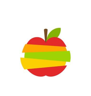 Adesivo Vários tipos de frutas Fatias empilhadas