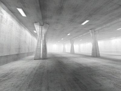 Adesivo Vazio, subterrâneo, estacionamento, área, 3D, rendering