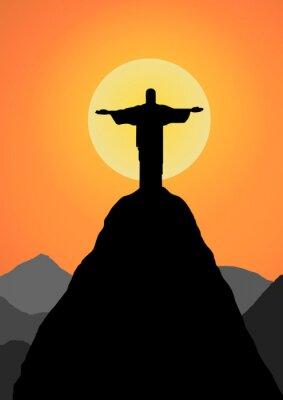 Adesivo Vector: Cristo, o Redentor do vetor