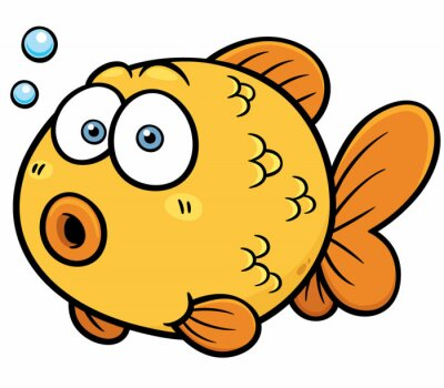 Adesivo Vector illustration of Goldfish