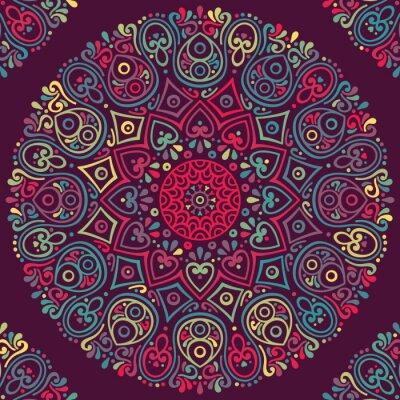 Adesivo Vector indiana Mandala